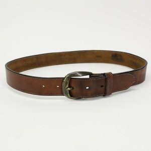Vintage Brown Leather Works Belt